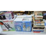A group of vintage games to include The incredible domino rally, hangman together with a Kenwood