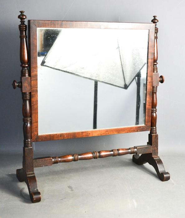 A Victorian mahogany toilet mirror.