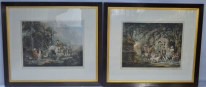 A pair of 19th century mezotint engravings by Sydney E Wilson depicting country folk with
