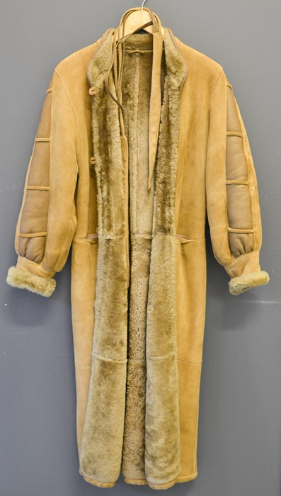 A Vintage lambskin coat from Bloomingdale's fur department, size 8/10