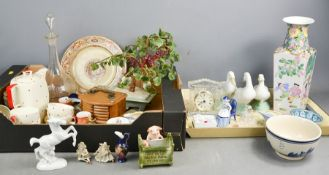 A group of ceramics to include Midwinter Modern part tea service, Chinese glass tree, porcelain