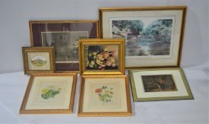 A group of 19th century prints and engravings together with a signed limited edition print by