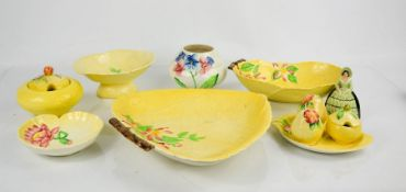 A group of Carlton ware to include Jam Preserve pot, cruet set, dishes and other examples.
