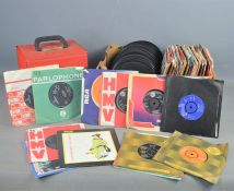 "A group of 7"" single records to include The Scaffold, Elvis Presley, The Vapors, The Who and many"