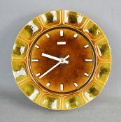A vintage Metamec ceramic wall clock