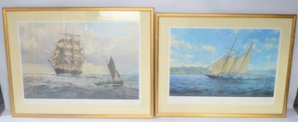 """J. Steven Dews, two signed limited edition prints """" The Tweed in the channel"""" 1875 and """"The"""