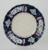 A Late 18th/early 19th century Russian porcelain plate - Gardner porcelain factory Verbilki Moscow -