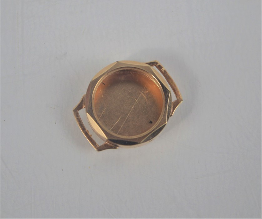 A 9ct gold (tested as): ladies watch case, 5.1g - Image 2 of 2