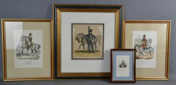 A group of 19th century engravings, Duke of Brunswick, Garde Imperiale Bessieres and Mortier and