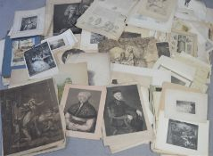 A quantity of 18th and 19th century prints, some of local interest