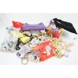 A group of jewellery to include large dragonfly pendant necklace, brooches, earrings, charms and