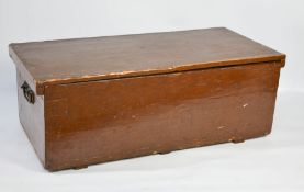 A Chinese wooden painted box, with iron hoop handles, 33 by 89 by 42cm.