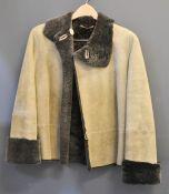 An Emporio Armani faux lambskin jacket, size 10
