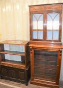 A group of display cabinets.