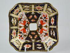 A Royal Crown Derby Old Imari pattern 2451 dish 12cm by 12cm.