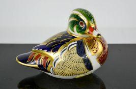 A Royal Crown Derby carolina duck.