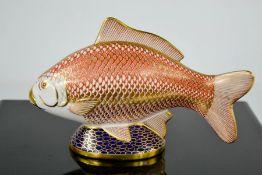 A Royal Crown Derby carp.