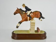 A Royal Worcester horse and rider Marion Coakes on Stroller, limited edition 320, by Doris Lindon,