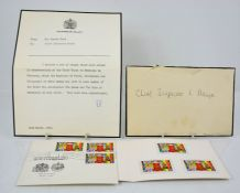 A letter from Sir Edward Ford at Buckingham Palace to Chief Inspector Mayer, containing Ethiopia