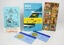 Two booklets and internal sheets supplied by Ethiopian tourist organisation along with a B.O.A.C