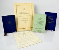 A group of Royal Memorabilia to include a blue hardback cover booklet containing details of Prince