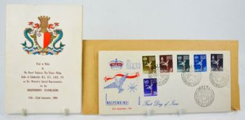 A set of 1st Day Cover stamps celebrating the Independence of Malta Sept. 1964 together with a