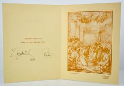 A Christmas card sent to Kenneth Mayer, signed Elizabeth R and Philip and dated 1963