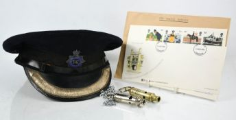 A Metropolitan Police Officer cap to Kenneth Mayer, at the then rank of Superintendent Class 1 (