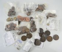 A quantity of British coins to include George III Isle Of Man 1813 halfpenny , Maundy coins,