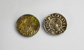 A King Henry II Short Cross silver penny 1154-1189 and a King Cnut short cross silver penny 1016-