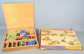 A quantity of vintage Meccano to include airport service set in original box