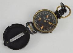 A folding pocket compass by W & L.E Gurley, Troy, New York, U.S.A