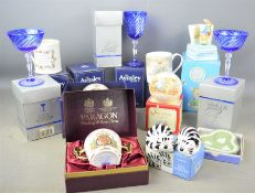 A group of Aynsley, Paragon, Cristal D'Arques and Royal Worcester boxed ceramics and crystal to