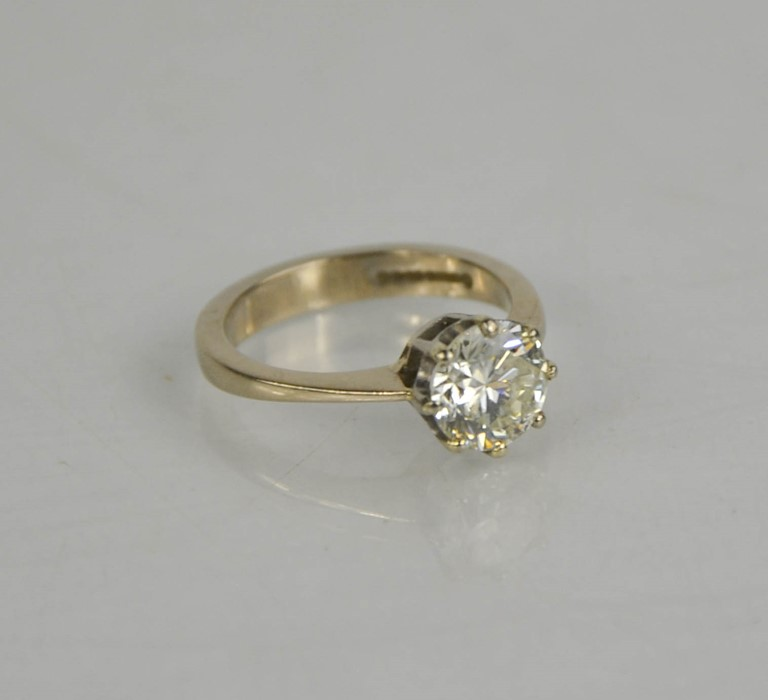 An 18ct white gold diamond solitaire, 1.57ct diamond approximately, size J, colour IJ, SI2, 4.1g. - Image 3 of 5