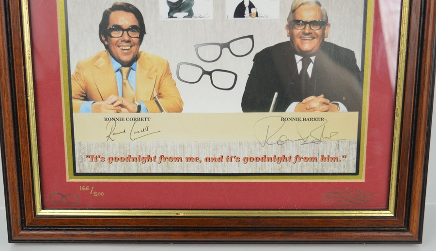 The Two Ronnies signed picture, limited edition 166 of 500, signed by Ronnie Barker and Ronnie - Image 2 of 2