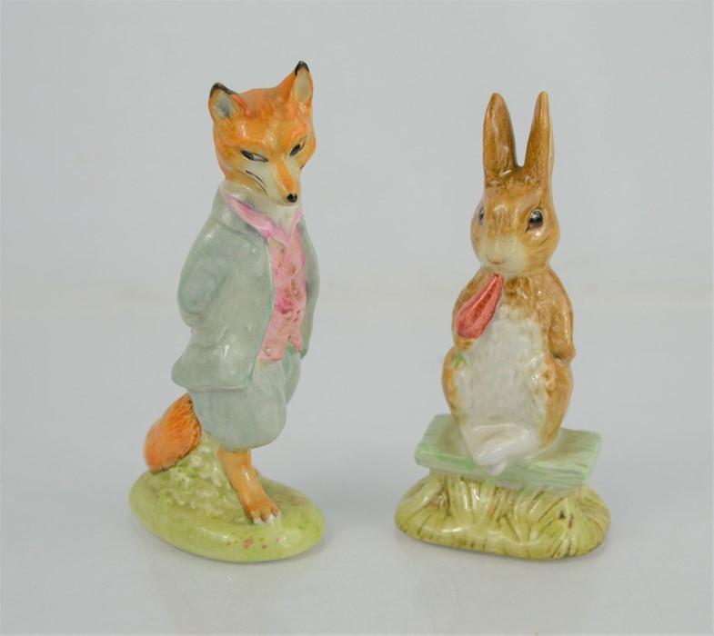 "Two Beswick Beatrix Potter figures "" Fierce Bad Rabbit"" and ""Foxy Whiskered Gentleman"""