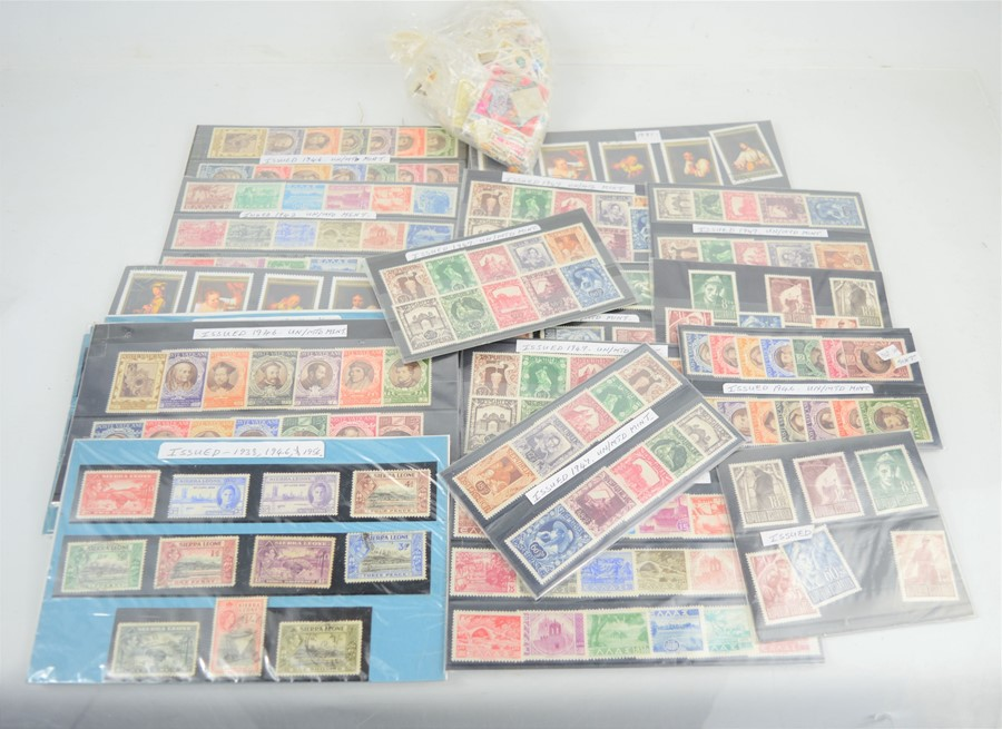 A selection of unmounted mint stamps and some used examples various countries to include Austria,