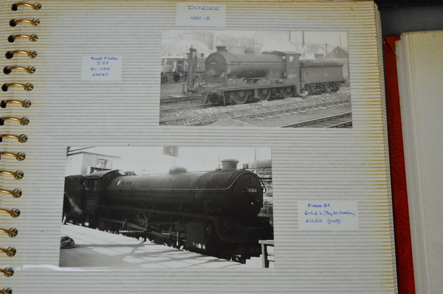 Four vintage photo albums of steam and diesel locomotives - Image 2 of 6