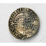 An Elizabeth I three penny piece.