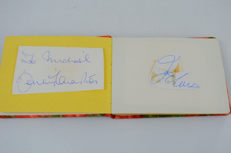 An autograph book containing the signatures Edward Heath, Geoffrey Howe, Joe Bugner, Bobby Charlton, - Image 3 of 5