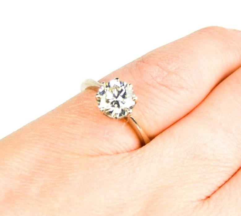 An 18ct white gold diamond solitaire, 1.57ct diamond approximately, size J, colour IJ, SI2, 4.1g.
