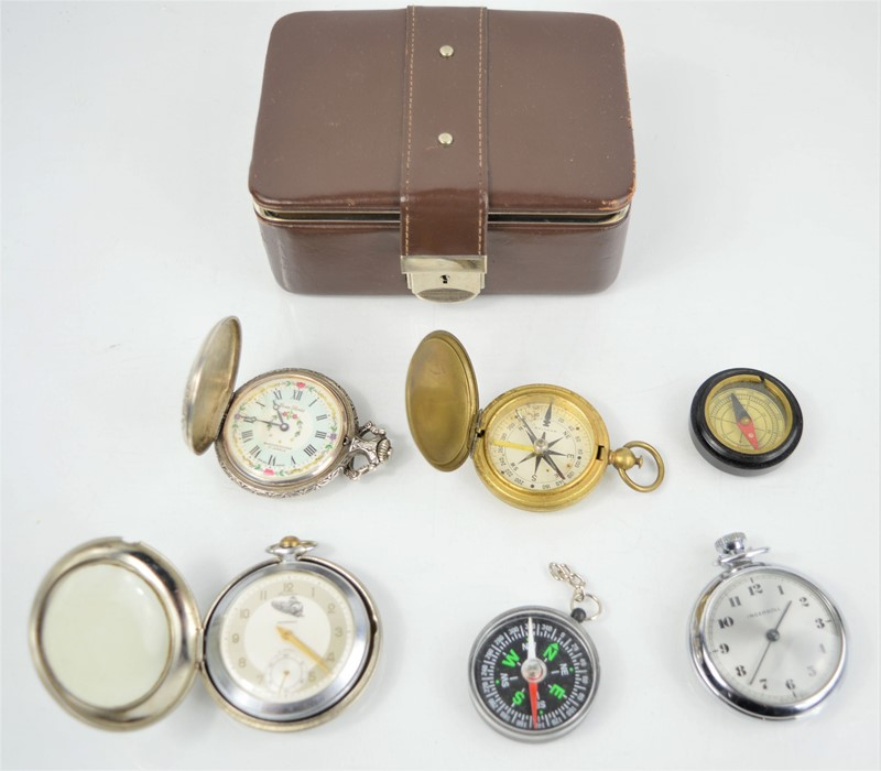 A group of pocket watches to include Ingersoll, Precisa, Ever Swiss together with a Waltham US