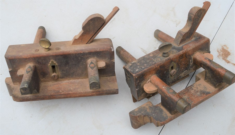 Two vintage plough planes by John Moseley and William Marples