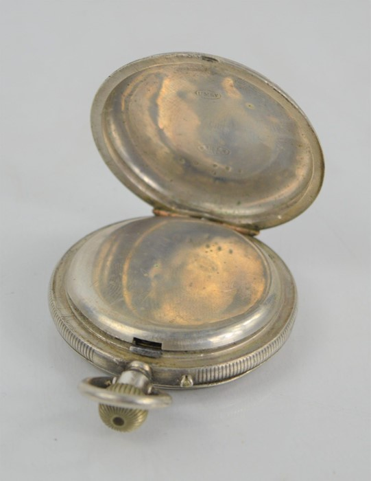 A 19th century silver pocket watch with Roman Numeral dial - Image 2 of 3