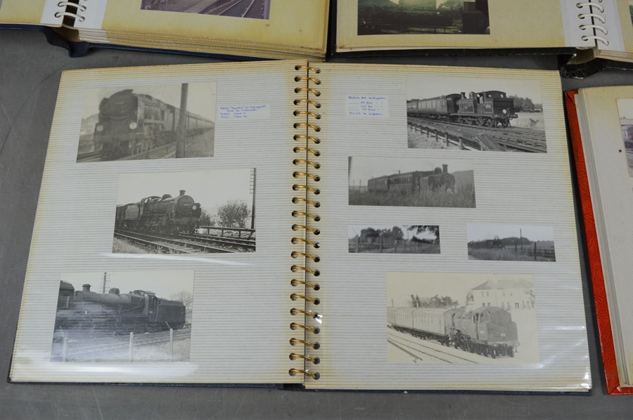 Four vintage photo albums of steam and diesel locomotives - Image 5 of 6