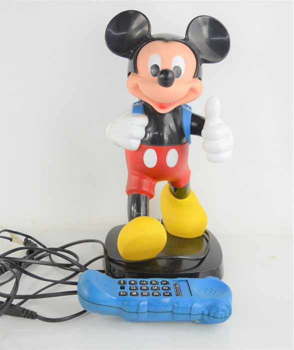 A vintage Tyco Mickey Mouse telephone