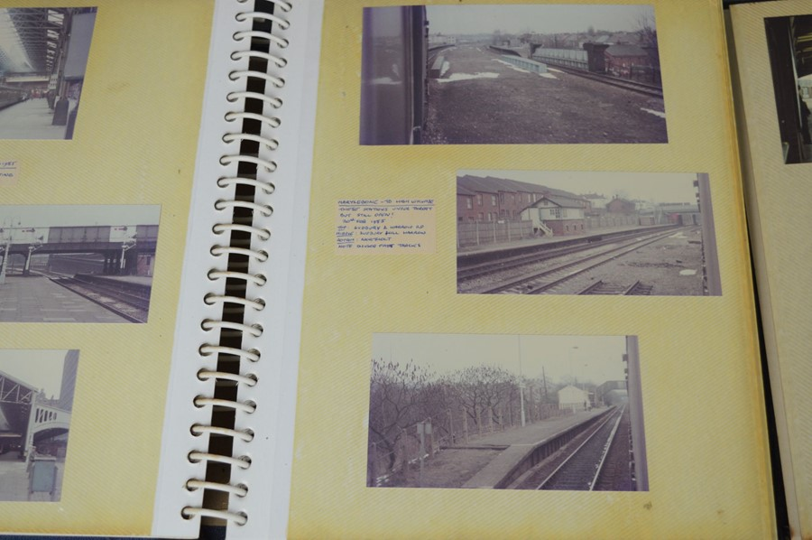 Four vintage photo albums of steam and diesel locomotives - Image 3 of 6