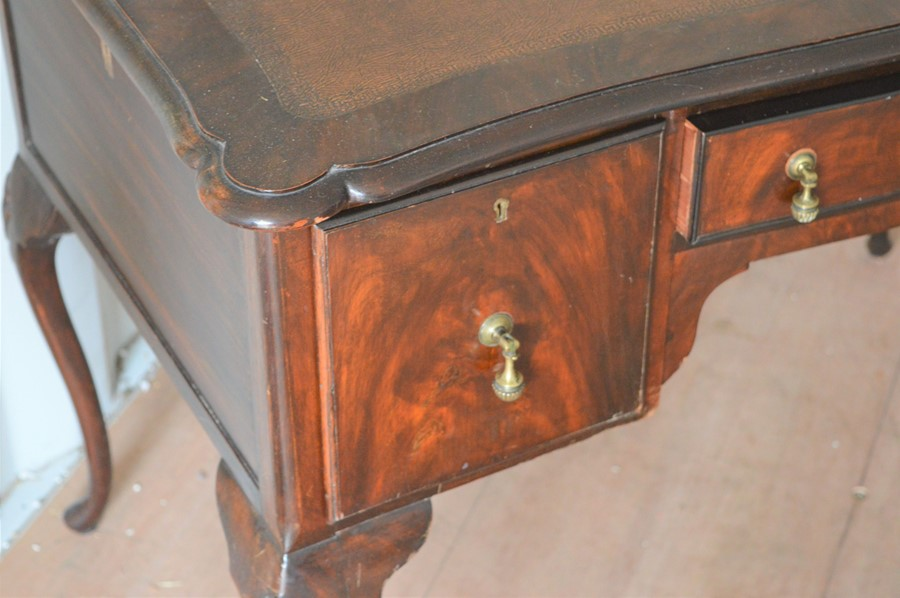 A 20th century mahogany lowboy - Image 2 of 2