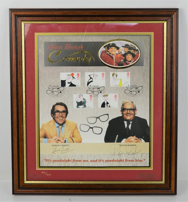 The Two Ronnies signed picture, limited edition 166 of 500, signed by Ronnie Barker and Ronnie