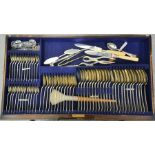 A canteen of silver cutlery, 86 pieces in total, 115toz, rd no. 716517, Sheffield 1926, makers